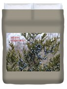 Juniper Berries - Merry Christmas Duvet Cover