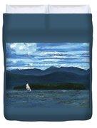 Juniper Island Lake Champlain Vt/ny Duvet Cover