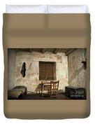 Junipero Serra Cell In Carmel Mission Duvet Cover