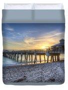 Juno Beach Pier At Dawn Duvet Cover