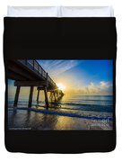 Juno Beach Sunrise Duvet Cover
