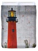 Jupiter Lighthouse Duvet Cover by Debra and Dave Vanderlaan