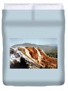 Jupiter Terrace Yellowstone National Park Duvet Cover