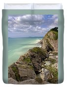 Jurassic Coast From Lulworth Cove Duvet Cover