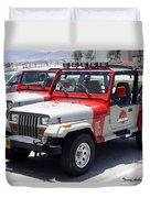 Jurassic Park Jeeps Duvet Cover
