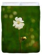 Just A Little White Flower Duvet Cover