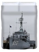 Just Another Battleship Photo Of The Uss Joseph P Kennedy Jr  Duvet Cover