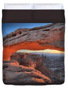 Just Before Sunrise At Canyonlands Duvet Cover