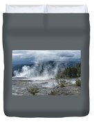 Just Before The Storm - Mammoth Hot Springs Duvet Cover