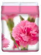 Just Carnations Duvet Cover