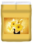 Just Plain Daffy 1 - Flora - Spring - Daffodil - Narcissus - Jonquil Duvet Cover