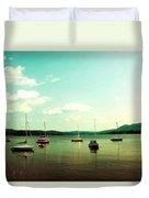 Just Sail Boats Duvet Cover