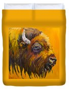 Just Sayin Bison Duvet Cover