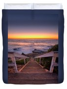 Just Steps To The Sea Duvet Cover