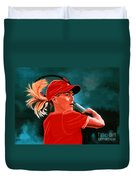 Justine Henin  Duvet Cover by Paul Meijering