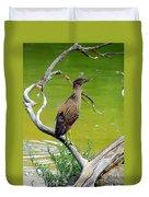 Juvenile Black-crowned Night Heron  Duvet Cover