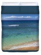 Kaanapali Ocean Aerial Duvet Cover