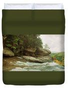 Kaaterskill Falls In Autumn, Catskill Duvet Cover