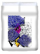 Kabbalah And Fish Duvet Cover