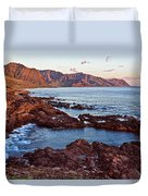 Ka'ena Point Oahu Sunset Duvet Cover