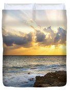Kaena Point State Park Sunset 2 - Oahu Hawaii Duvet Cover