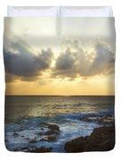 Kaena Point State Park Sunset 3 - Oahu Hawaii Duvet Cover