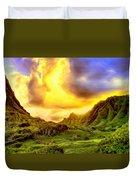 Kahana Valley Sunset Duvet Cover