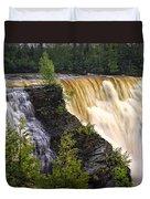Kakabeka Falls On The Kaministiquia River Duvet Cover