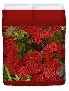 Kalanchoe Flowers Duvet Cover