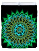 Kaleidoscope 1 Blues And Greens Duvet Cover