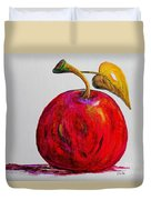 Kaleidoscope Apple -- Or -- Apple For The Teacher  Duvet Cover by Eloise Schneider