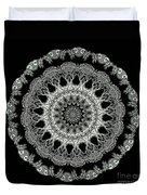 Kaleidoscope Ernst Haeckl Sea Life Series Black And White Set 2 Duvet Cover
