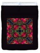 Kaleidoscope Made From An Image Of A Coleus Plant Duvet Cover