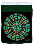 Kaleidoscope Of A Neon Sign Duvet Cover