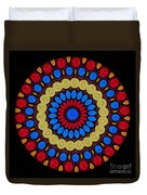Kaleidoscope Of Colorful Embroidery Duvet Cover