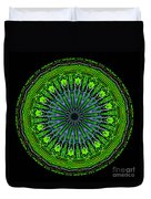 Kaleidoscope Of Glowing Circuit Board Duvet Cover
