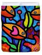 Kaleidoscope Reef Duvet Cover by Steven Scott