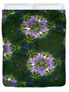 Kaleidoscope Violets Duvet Cover