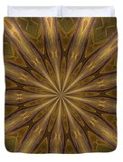 Kaleidoscope With Gold Duvet Cover
