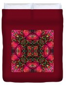 Kaleidscope Made From Image Of Coleus Plant Duvet Cover