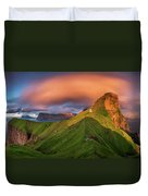 Kalsoy Island And Kallur Lighthouse Duvet Cover
