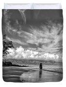 Kanaha Beach Maui Hawaii Panoramic Duvet Cover