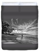 Kanahna Beach Maui Hawaii Panoramic Duvet Cover