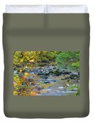 Kanaka Creek In The Fall Duvet Cover