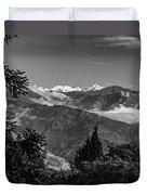 Kanchenjunga Monochrome Duvet Cover
