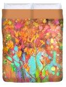Kangaroo Flower In Spring Bubbles Duvet Cover