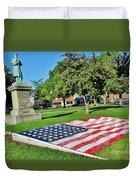 Kankakee Union Soldiers Memorial Duvet Cover