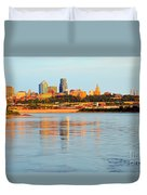 Kansas City Downtown From Kaw Point Duvet Cover