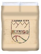 Kansas City Kings Retro Poster Duvet Cover