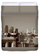Kansas City Skyline 10 Duvet Cover